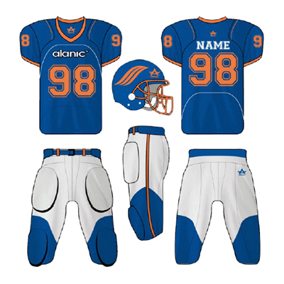 Blue And White American Football Clothing
