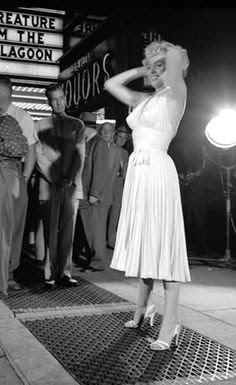 Escena del vestido Marilyn detrás de las cámaras