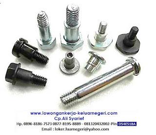 Lowongan Kerja di Pabrik Baut dan Logam di Taiwan-Info hub Ali Syarief Hp. 089681867573-087781958889 - 081320432002 – 085724842955 Pin D54E51BA