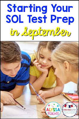 Virginia is for Teachers: Tips to Start Your SOL Test Prep in September