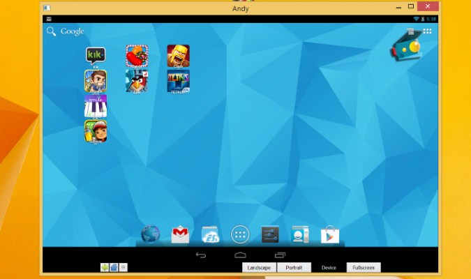 Emulator PUBG Mobile untuk PC - Andy