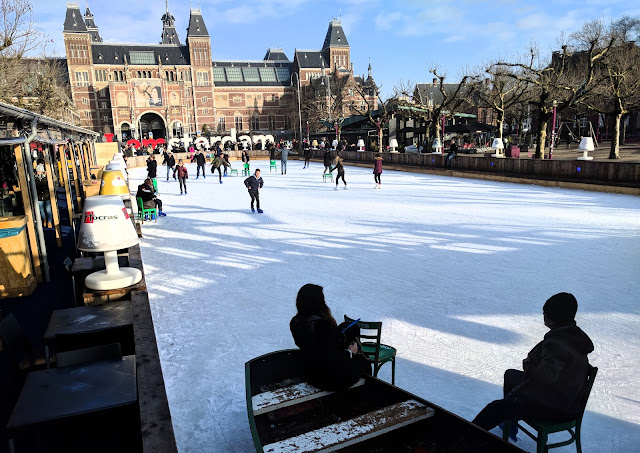 Ice rink situated at Museum Square