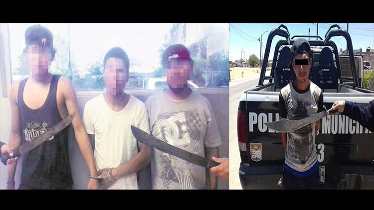 """VIDEOS: LOS """"MACHETEROS"""" DE SONORA, DELINCUENTES ARMADOS CON MACHETES, DAN LUZ VERDE A POLICÍAS PARA DISPARARLES."""