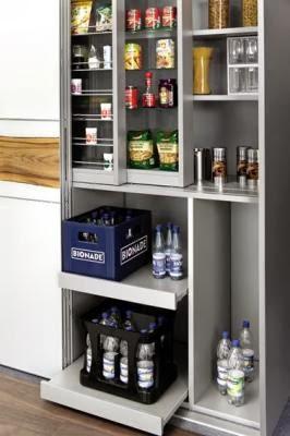 Twc trucos para el espacio de una cocina for Muebles de cocina despensa
