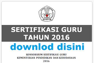 BUKU PEDOMAN SERTIFIKASI GURU (SERGUR) 2016