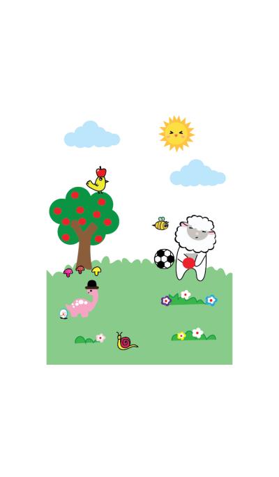 Cute sheep theme vr.5