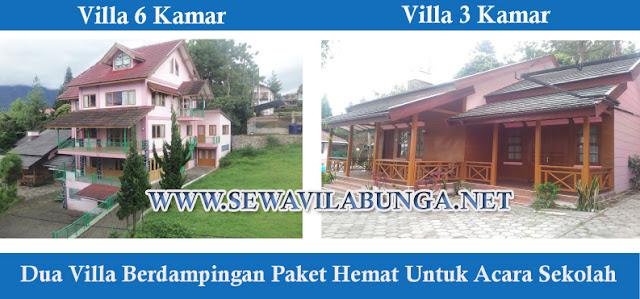 Villa Berdampingan Paket Hemat Untuk Acara Sekolah istana bunga
