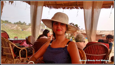 blogger Anamika at Pete's Shack,Candolim beach, Goa