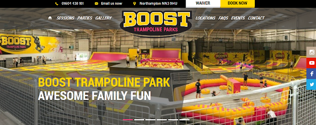 Leading indoor trampoline park in Northampton