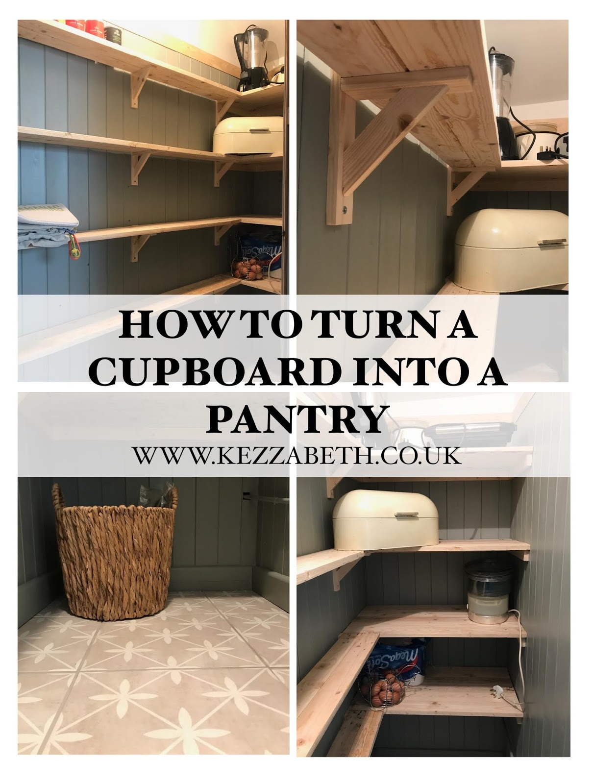 DIY How to Turn a Cupboard into a Pantry