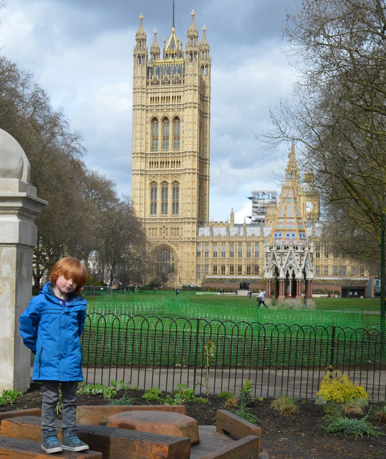 The Houses of Parliament Audio Tour for kids, A Review - View of Westiminster from Victoria Palace Gardens