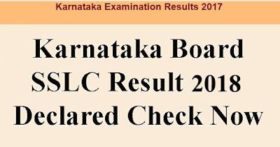 Karnataka Board SSLC Result 2018 KSEEB 10th Class