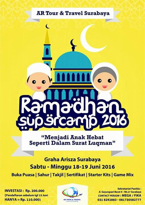 Ramadhan Supercamp 2016 Graha Arisza Surabaya event anak pesantren kilat