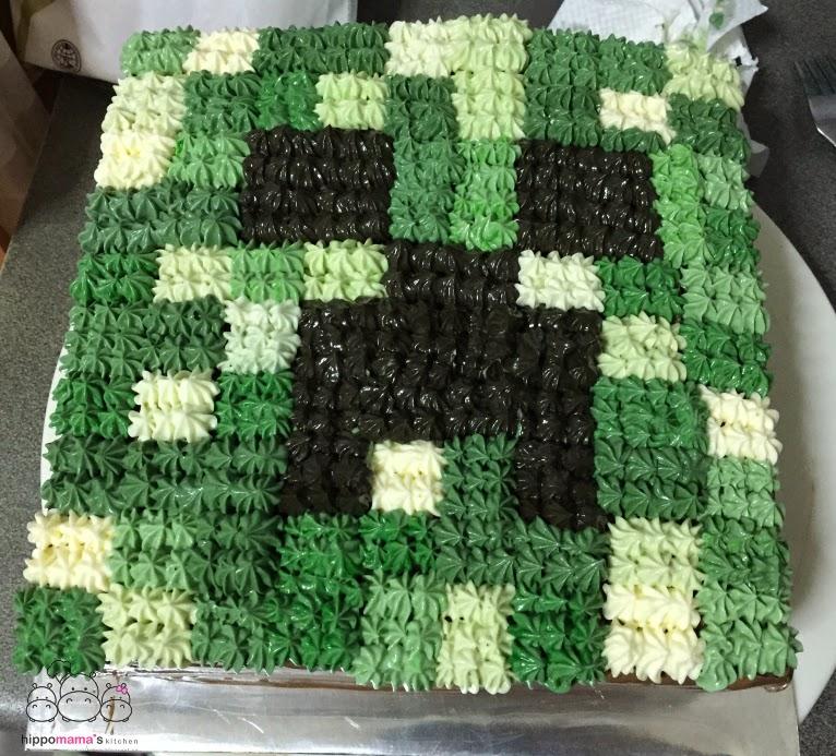 Hippomama's Kitchen 怡。然自得: Minecraft 奶油蛋糕 Minecraft Cream Cake