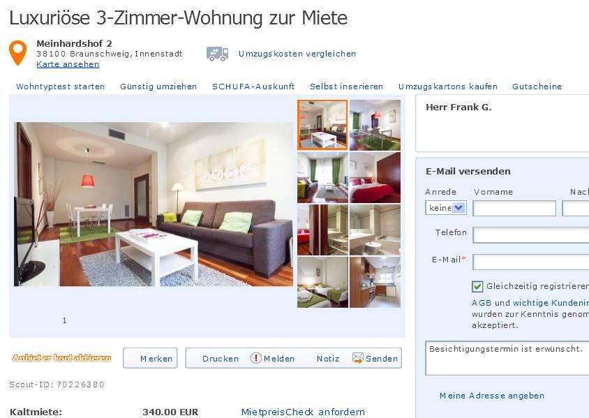 Zimmer Wohnung Braunschweig Weststadt