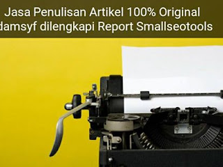 JASA PENULISAN ARTIKEL BLOG SEO FRIENDLY