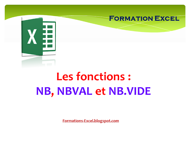Fonctions NB NBVAL NBVIDE