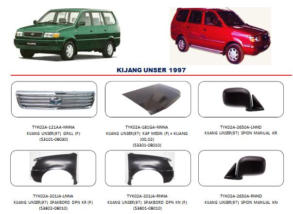 Bodypart Toyota Kijang 1997