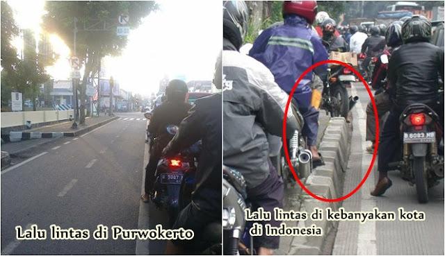 hampir di semua kota di Indonesia dikala ini terjadi kemacetan Inilah Fakta-Fakta Dibalik Tertibnya Lalu Lintas di Purwokerto