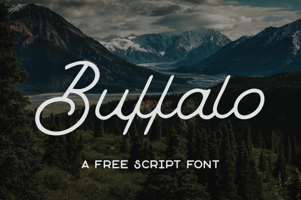 Font gratis terbaru - Buffalo Scrift