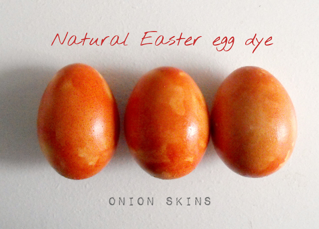 Natural Egg Dye Onion Skins