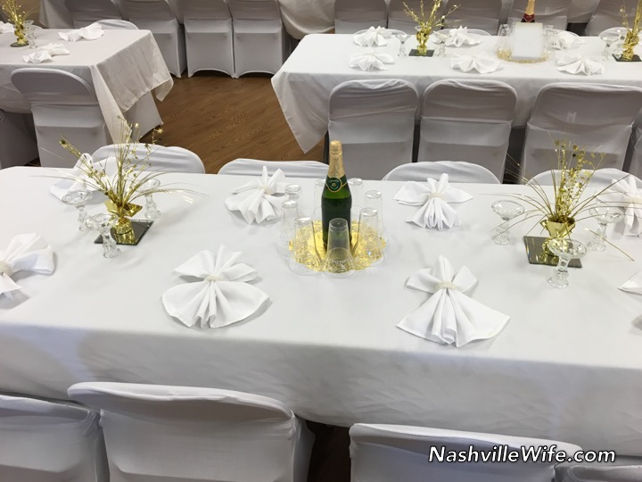chair covers new year zimmer frame wheelchair archives nashville wife years ago they purchased napkins tablecloths and to use for all the weddings this party we used disposable plates silverware