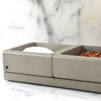 Concrete Spices Caddy