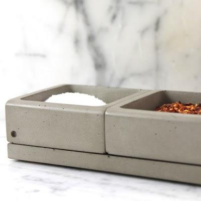 Concrete Spices Caddy