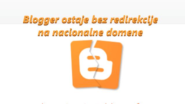 Blogger ostaje bez redirekcije na nacionalne domene - slomljeni Blogger logo