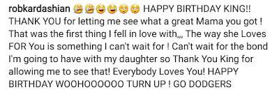 Rob Kardashian turns Tyga's son, King's birthday message into tribute for Blac Chyna
