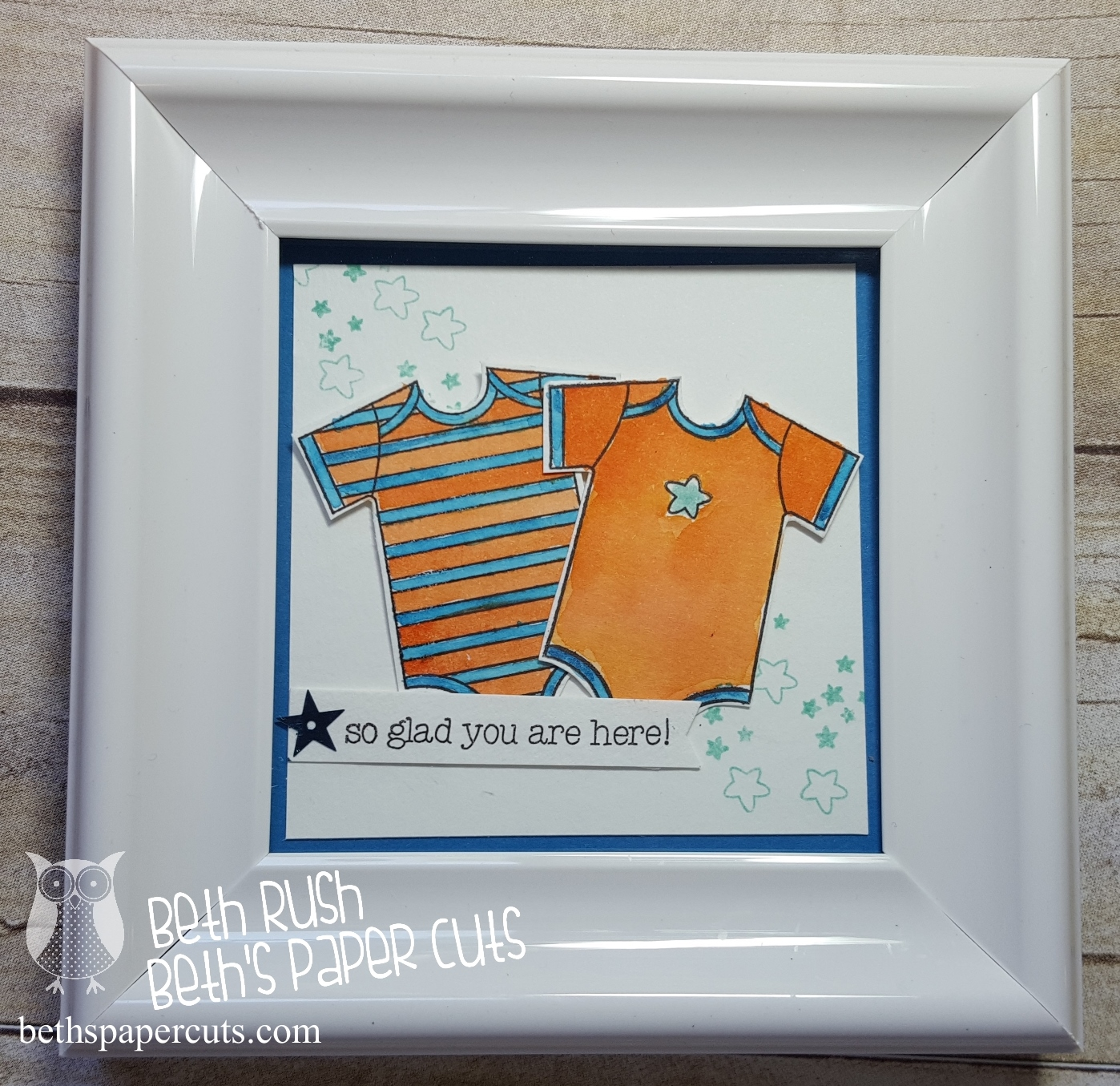Hi Everyone I Thought Would Share A Little Frame Made To Go With Gift For Friend Who Had Twin Boys This Is Her First Baby And Remembered