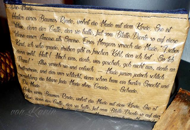 bedrucktes MÄppchen aus Papier, Gedicht: Heinz Erhard