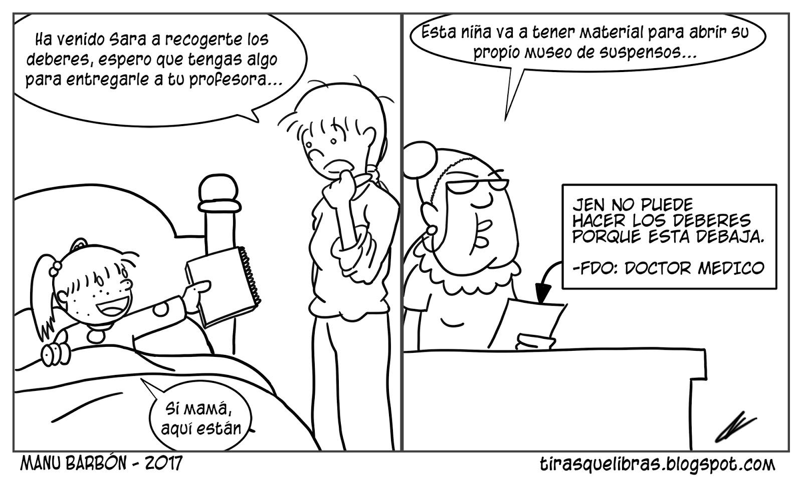 webcomic jen enferma entrega los deberes