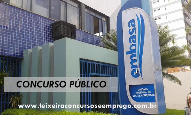 Embasa autorizada Concurso 854 vagas em toda a Bahia