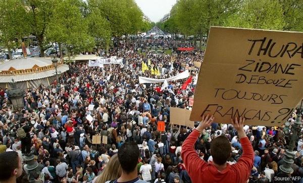 Place de la République à Paris, le 22 avril