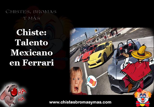Chiste: Talento Mexicano en Ferrari, el equipo Ferrari de Formula 1 decidió tomar ventaja del desempleo en México, y contratar a jóvenes sin  trabajo para su equipo de pits.
