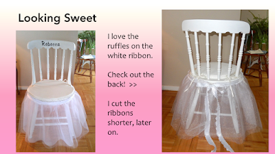 Bridal Chair project by Grace Baxter, gracenotes4today.blogspot.com