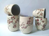 tasses cerisiers japonais tazze ciliegi giapponesi