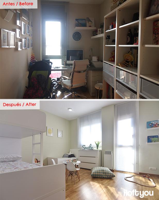Antes y después de una habitación infantil