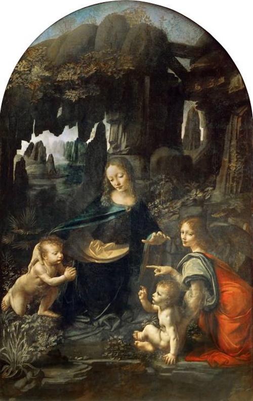 A virgem dos rochedos, pintura de Da Vinci.