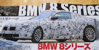 BMW 新型8シリーズ 2018年に復活 最新画像