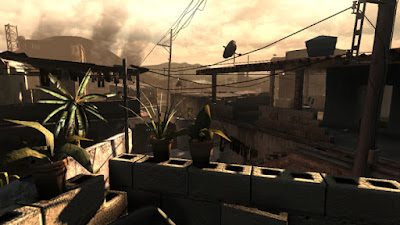 Screenshot from an early FEAR 3 prototype build