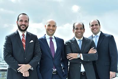 Socios de ECIJA DVMS: Christian Molina, Polibio Valenzuela, Gabriel Dejarden y Edward Salcedo