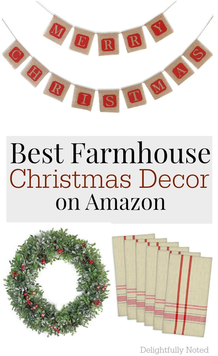 Christmas farmhouse finds on Amazon