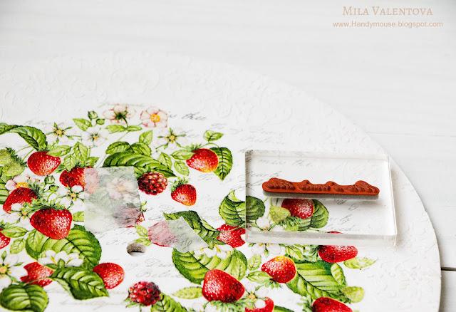 Свадебный-часы-настенные -земляника-Мила-Валентова-5
