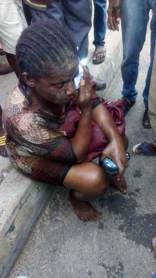 Female Kidnapper From Togo Caught, Stripped And Beaten Mercilessly In Lagos  - Crime - Nairaland