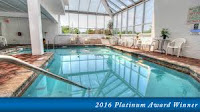 Hotel indoor pool in the Smokies