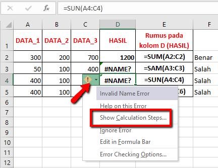 Membetulkan pesan Error Excel #DIV/0!