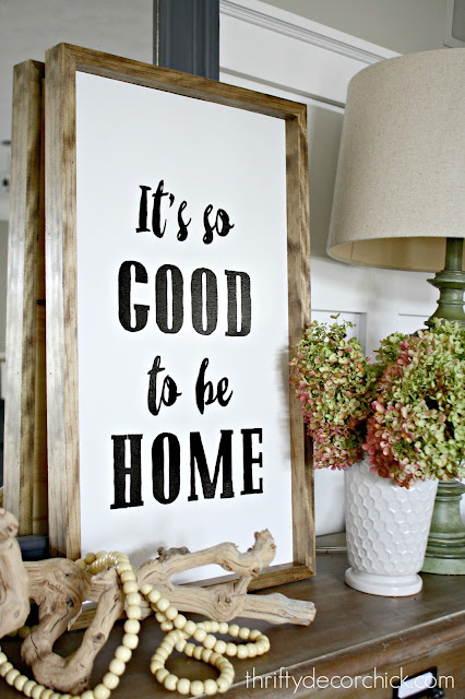 DIY it's good to be home sign