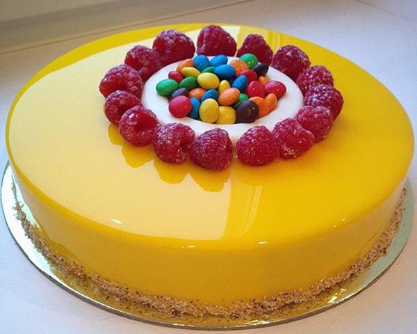 Download Wallpaper Resep Mango Cake Mirror Glaze a.k.a Cake Mangga Icing Cermin Berkilau